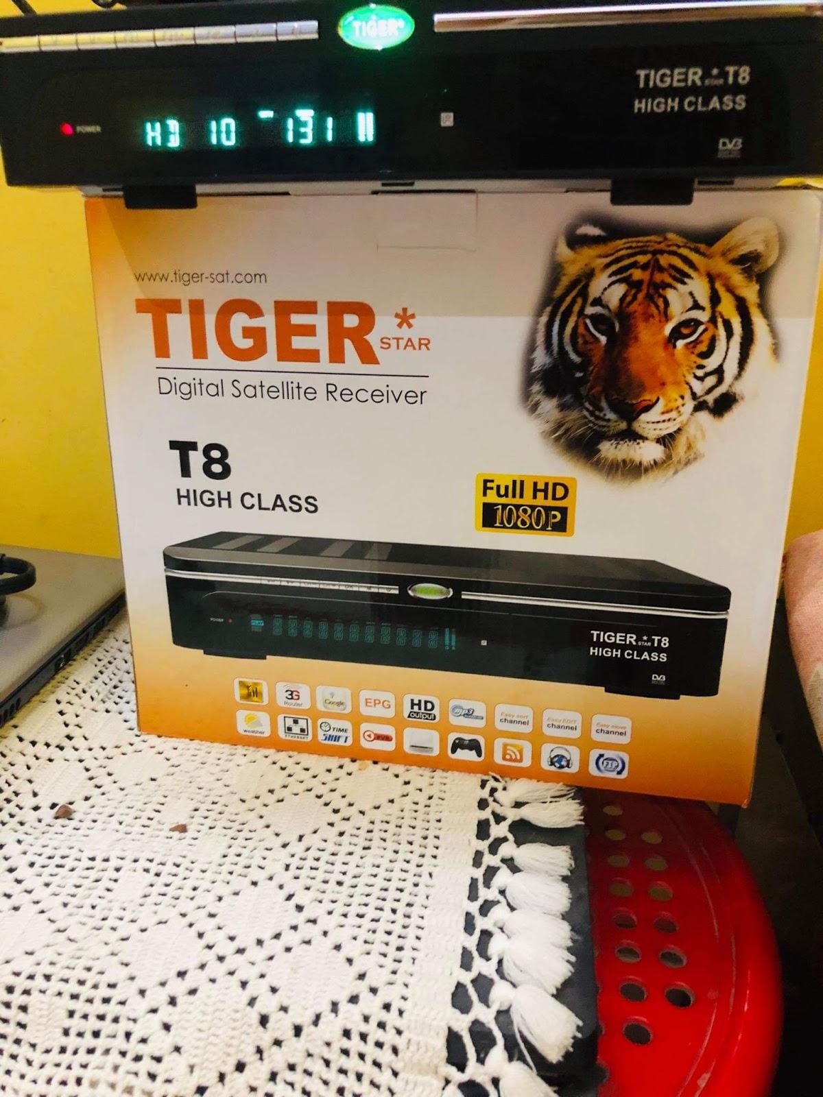 TIGER T8 HIGH CLASS HD RECEIVER, AUTO ROLL POWERVU KEY NEW