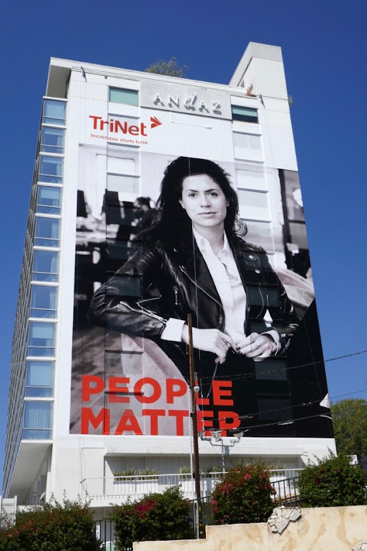 Giant TriNet People Matter billboard