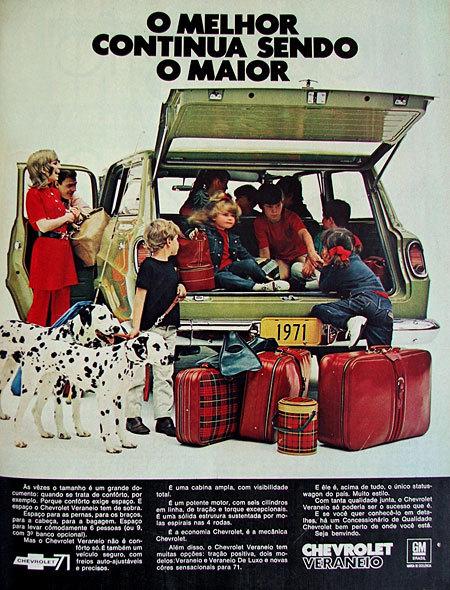 Propaganda antiga da Chevrolet promovendo a Veraneio em 1970