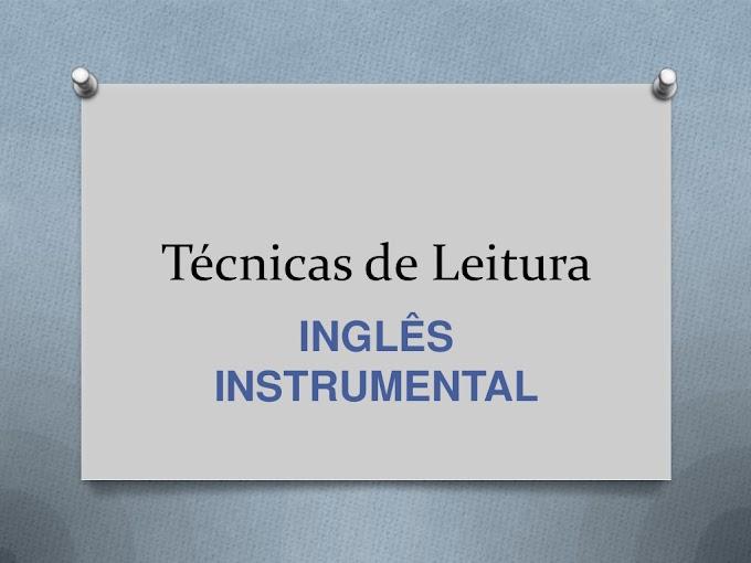 Técnicas de Leitura para Compreensão de Textos em Inglês.