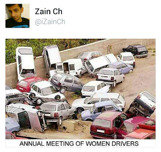 Funny pics - Annual meeting of women driving