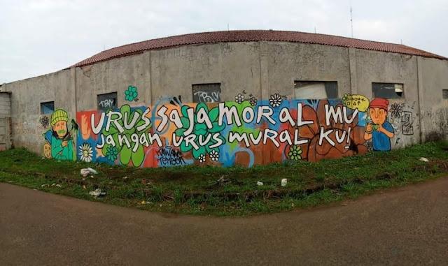 Banyak Mural Kritis Dihapus, Muncul Mural: Urus Saja Moralmu, Jangan Muralku
