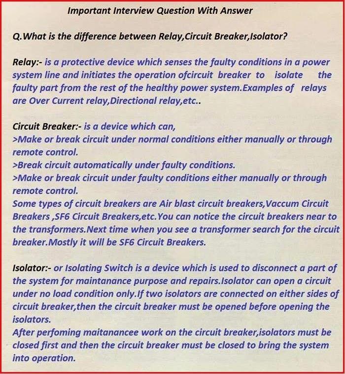 What Bis Bthe Bdifference Bbetween Brelay C Bcircuit Bbreaker C Band Bisolator on Circuit Breaker Box Wiring