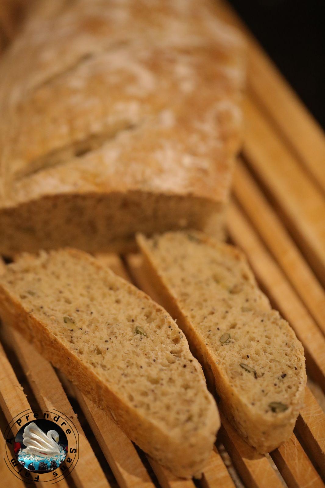 Baguettes aux céréales au levain