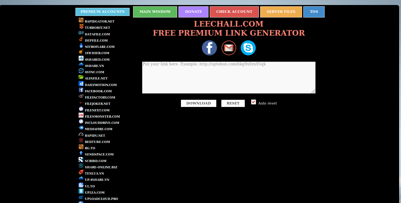 Alfafile Premium Link Generator