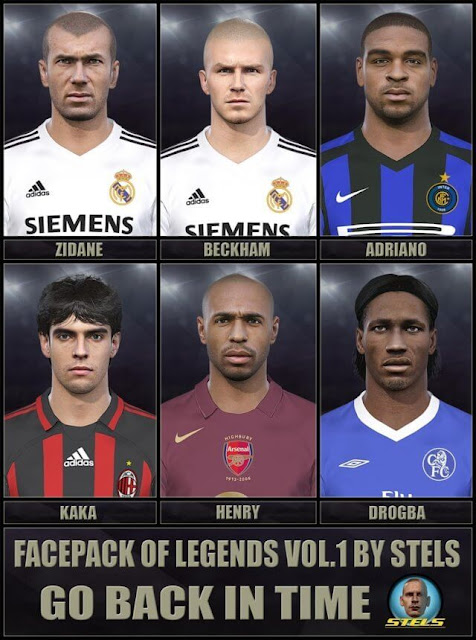 Legends Facepack Vol.1 PES 2018