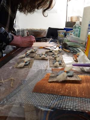 Studio art making process for event