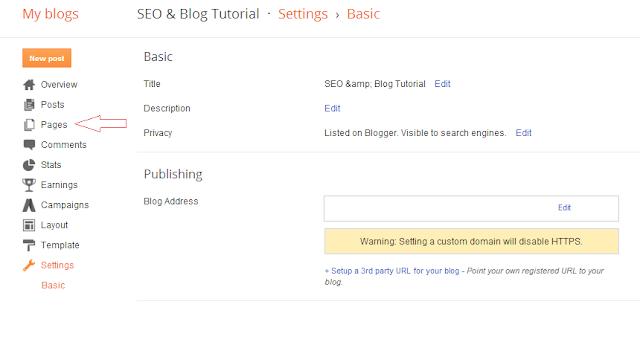 Membedakan itu Page dan Post pada Blogger