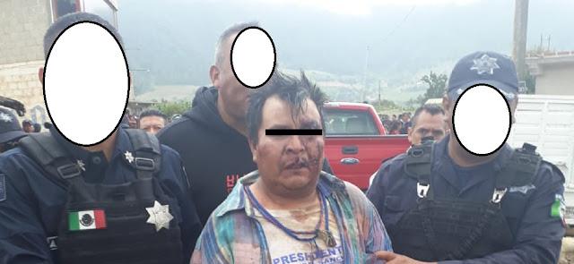 Habitantes detienen a un presunto secuestrador en Zacapoaxtla, cuando se lleva a una menor de edad