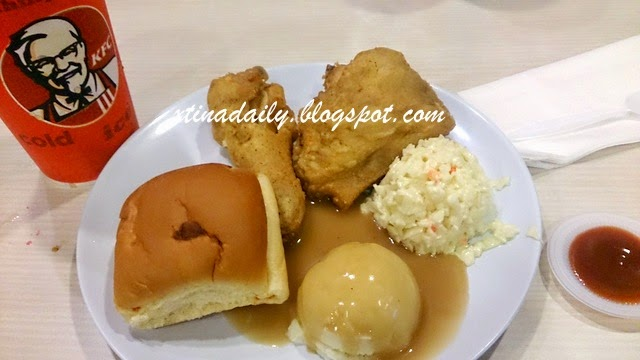 Bread and Chicken Meal in Malaysia