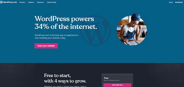 Platform to create a free blog or make a free Web page websites