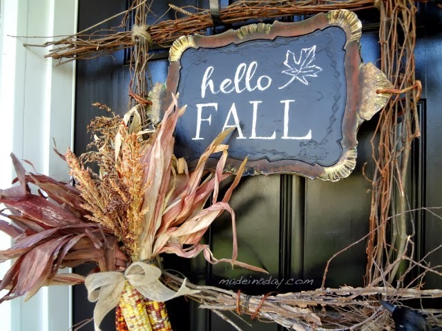 Fall Harvest Wreath by Made in a Day