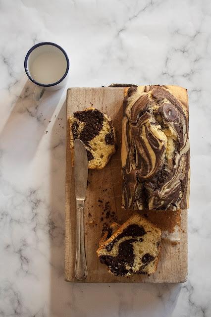 Plumcake marmorizzato al cacao, la ricetta senza burro