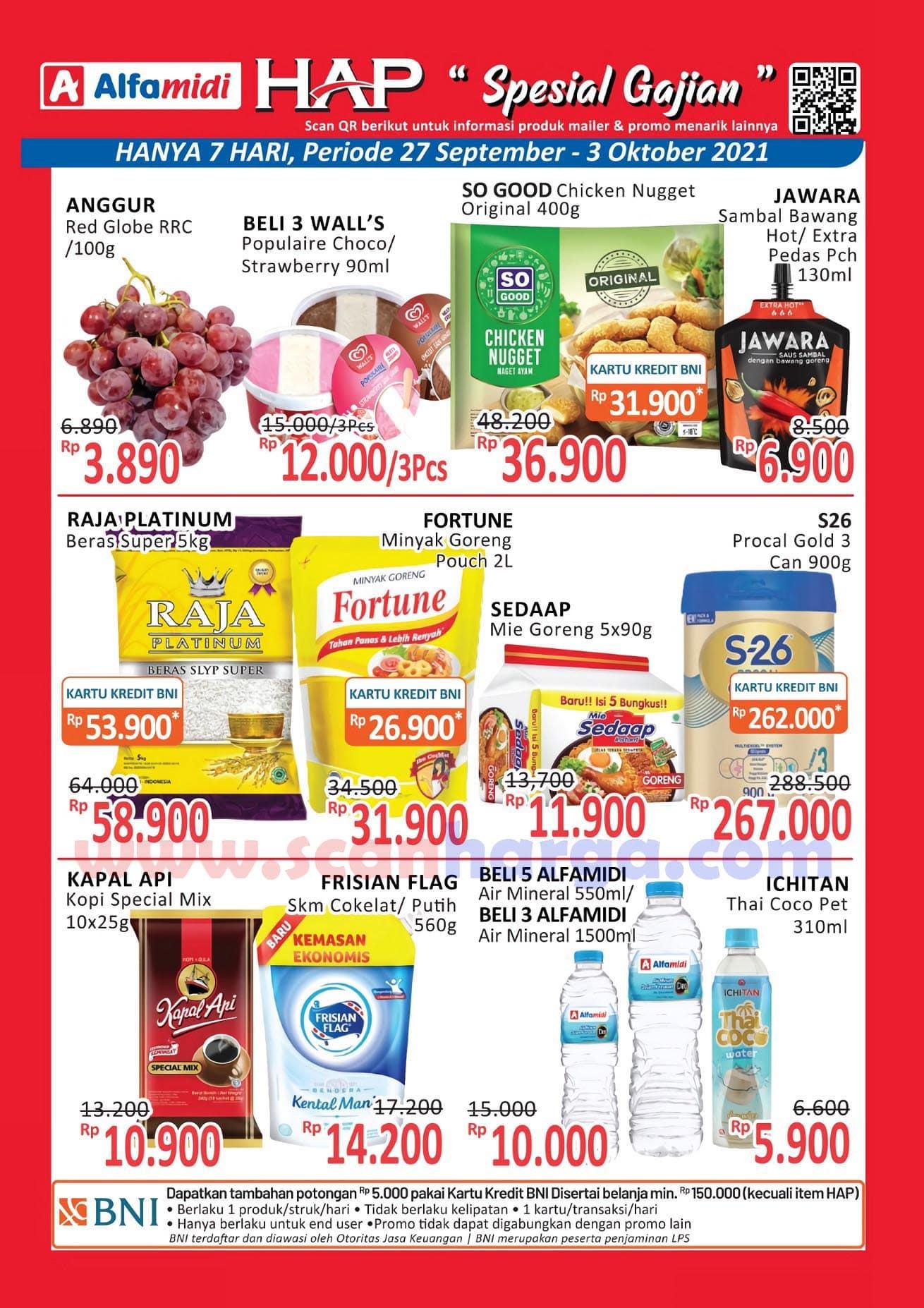 Katalog HAP Promo Alfamidi Satu Pekan 27 September - 3 Oktober 2021 1