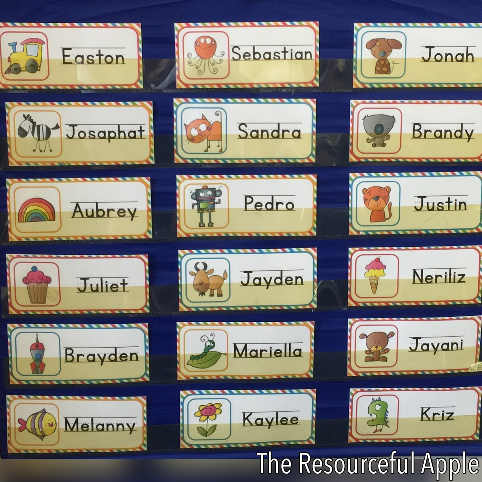 Classroom Group Names Ideas ~ The resourceful apple back to school organization with