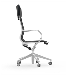 Luxurious Mesh Office Chair with Leather Headrest