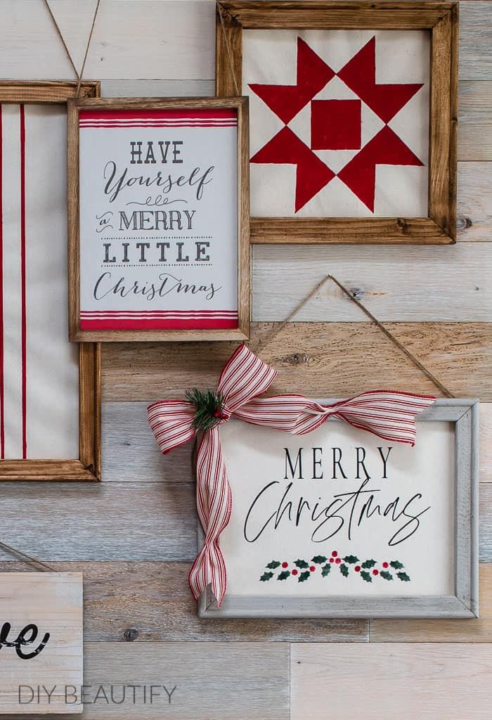 farmhouse Christmas gallery wall