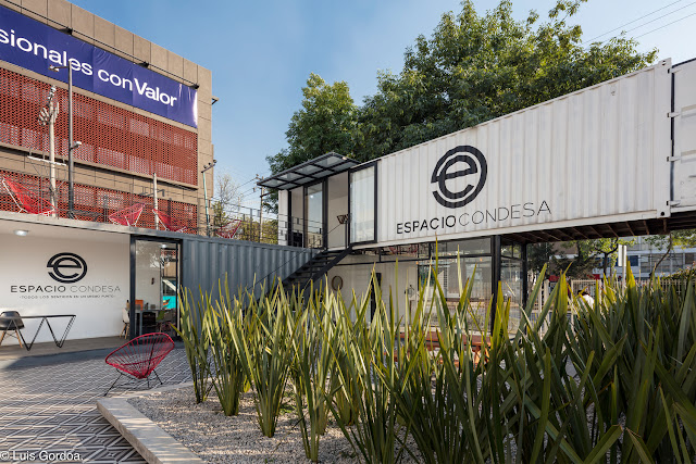 2 Story L-Shaped Shipping Container Office Building, Mexico 8