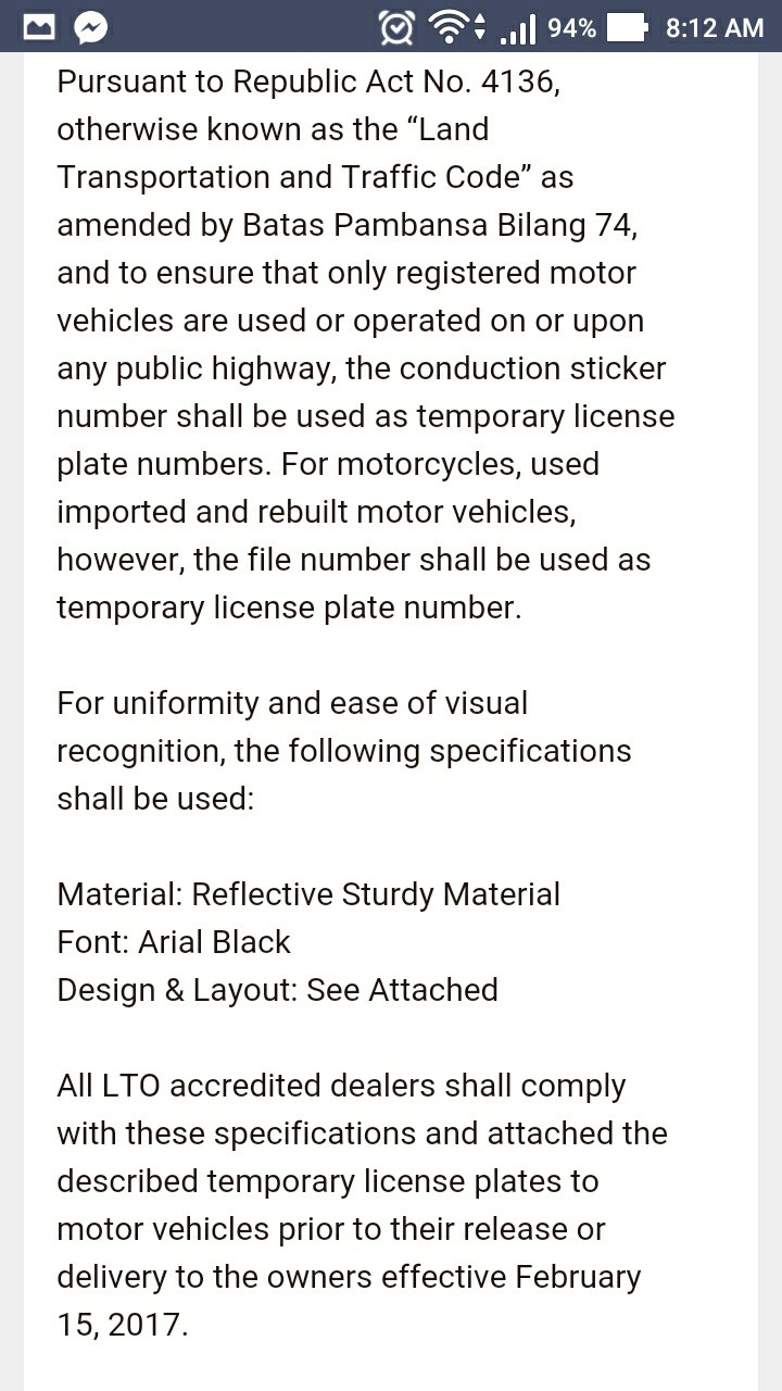 new car plate releaseLTO Memorandum for New Car buyers starting February 15 2017  Our