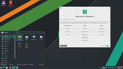 Tampilan Desktop Manjaro KDE