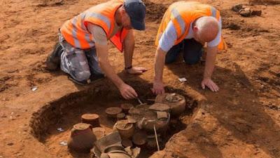 Σπάνια αρχαιολογικά ευρήματα βρέθηκαν σε ανασκαφές κοντά σε αεροδρόμιο της Αγγλίας