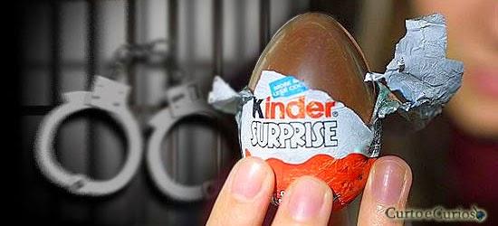 Coisas proibidas nos EUA - Kinder Ovo