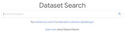 An image of the Google Database Search page