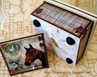 Caixa em MDF tema cavalo