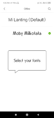 Fonts style change in miui themes