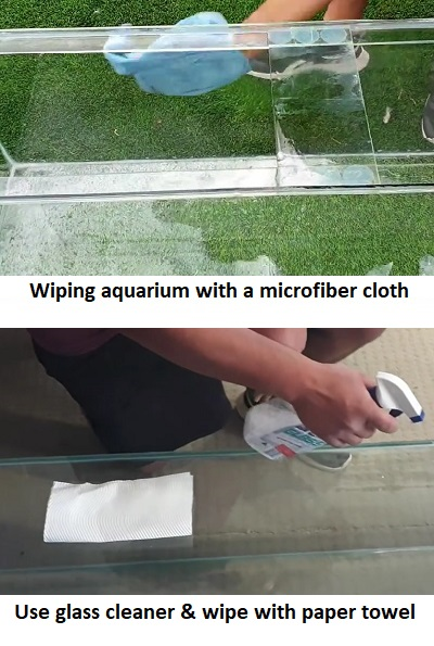 Dry the aquarium
