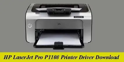 HP LaserJet Pro P1108 Printer Driver Software Download