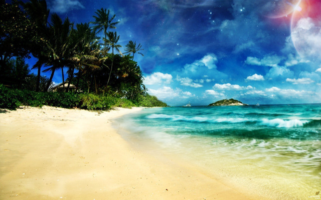 Beach Wallpaper-1 Samsung Galaxy Tablet Wallpapers