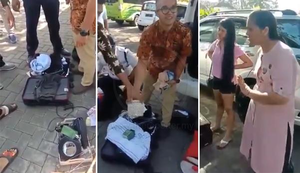 (Video) 'Please don't call police, I will pay' - Pelancong kantoi rembat barang hotel di Bali