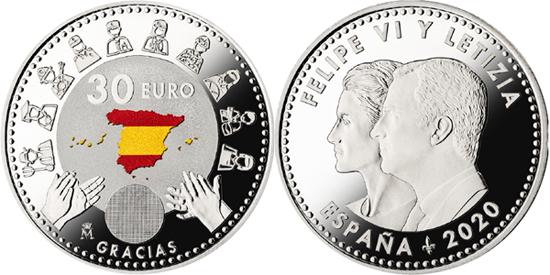 Spain 30 euro 2020 - Pandemia heroes