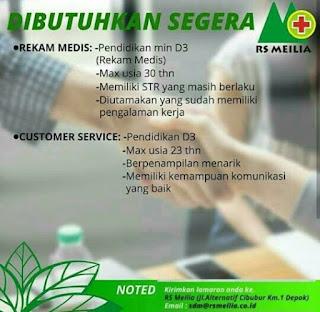 Karir Lowongan Kerja RS Meilia Cibubur 2019