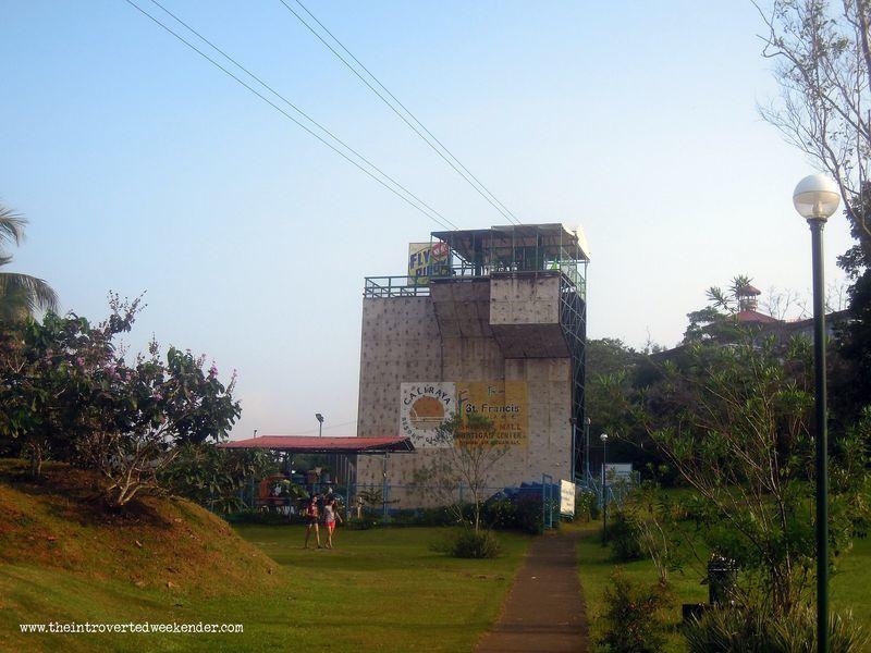 Wall climbing at Caliraya Resort Club