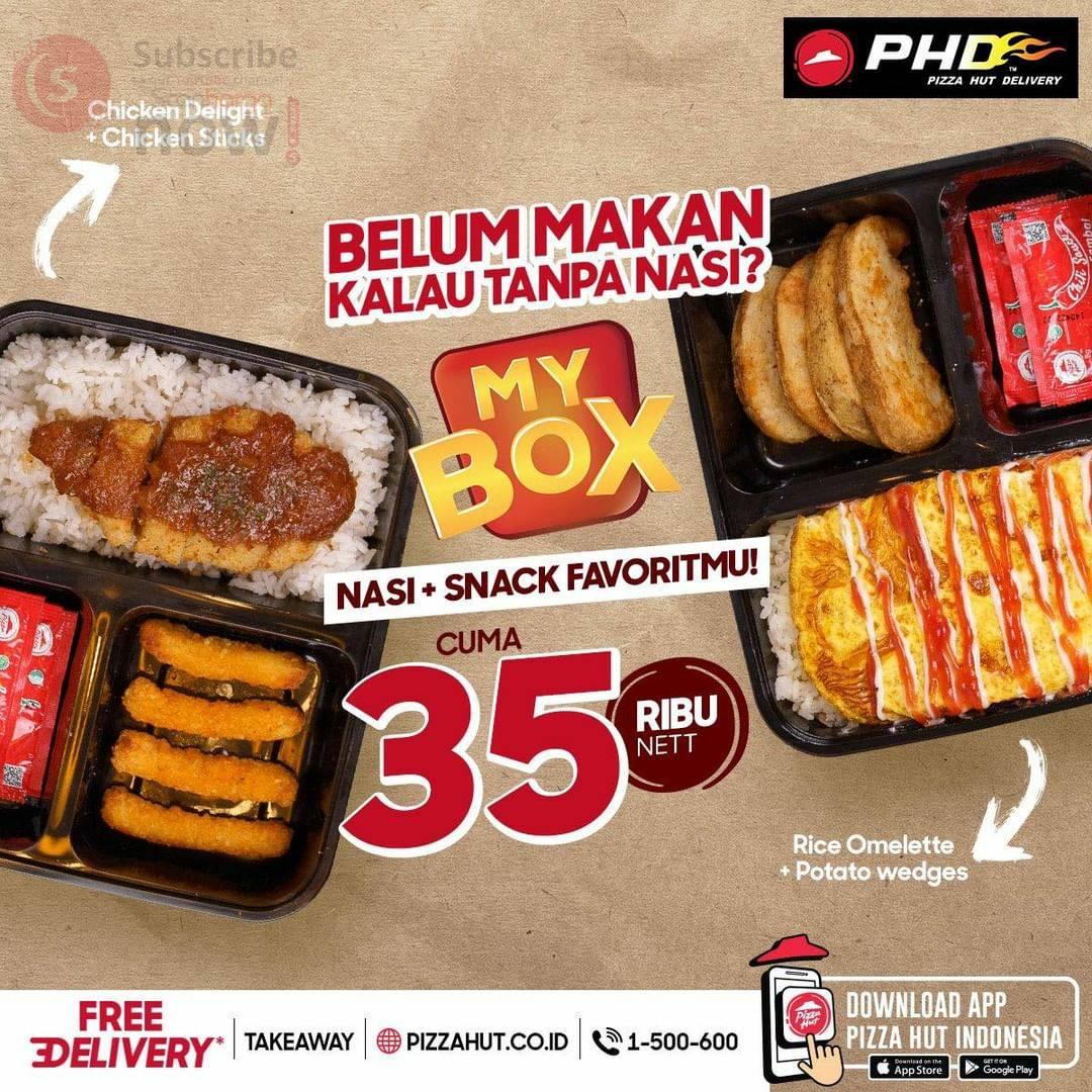 Promo PHD harga Spesial MY BOX Nasi + Snack Favorit cuma Rp 35 Ribu Nett