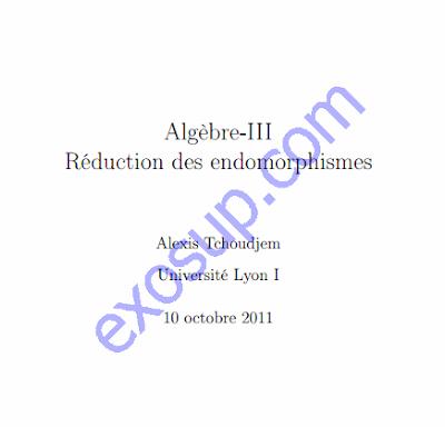 cours algèbre 4 sma s3 réduction des endomorphismes et applications