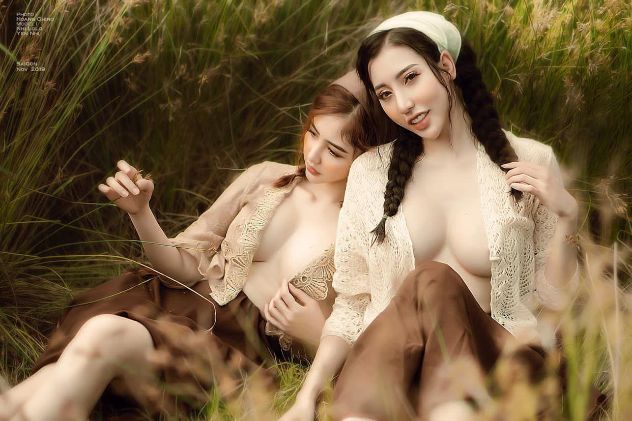 Ngắm vẻ đẹp sexy của hai chị em Hoang Chino và Phạm Hoàng Yến Nhi