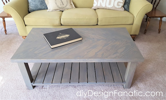 farmhouse coffee table, stain, farmhouse style, diy