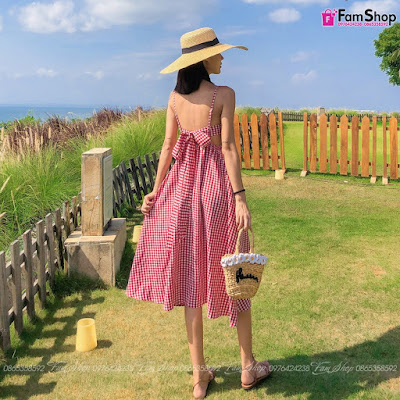 Váy maxi đi biển V301