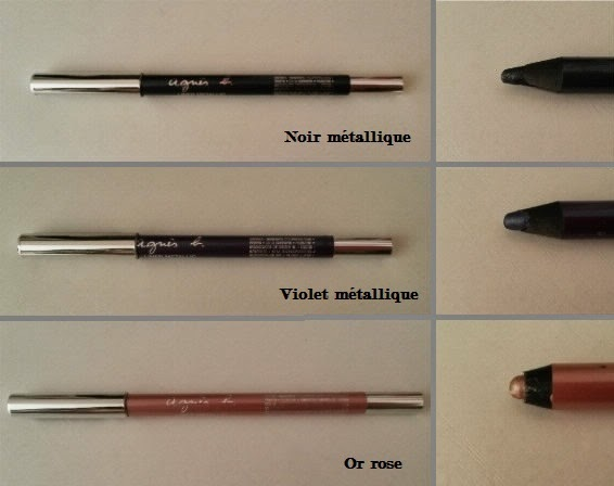 Liner métallic ccb noir violet or rose