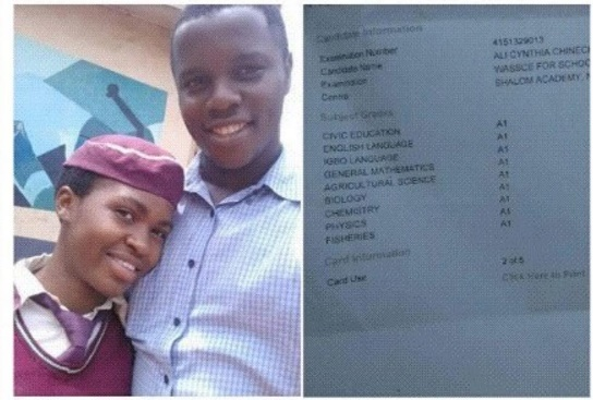 Nsukka Student breaks record in just released WAEC result, makes 9 A1s