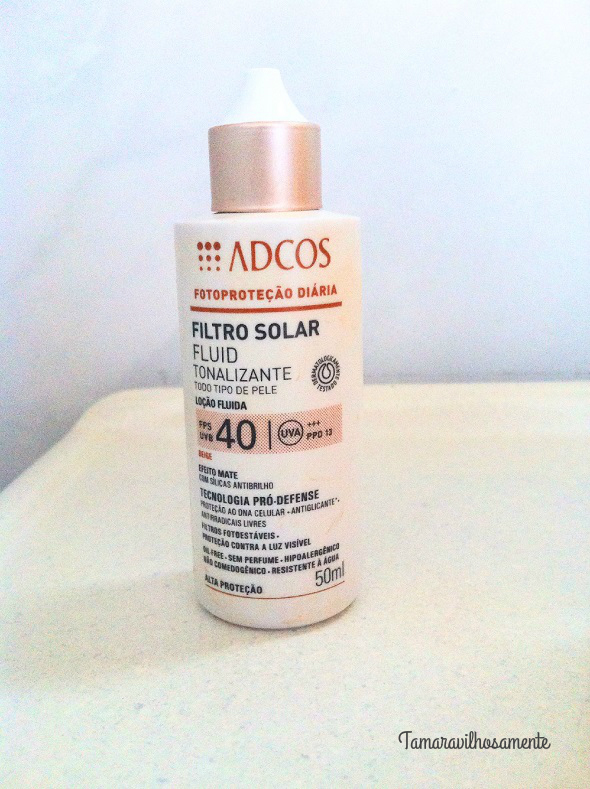 8 produtos de uso diário - filtro solar ADCOS