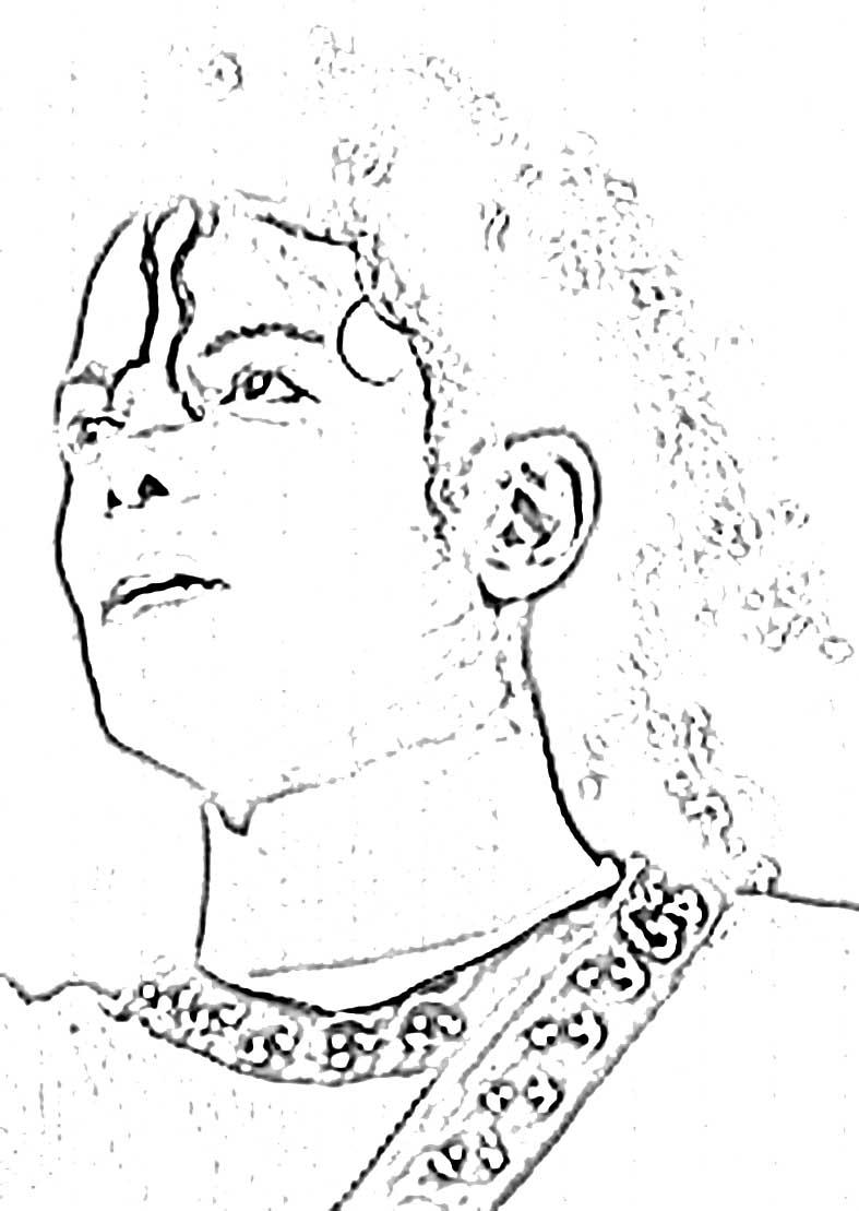 Asombroso Michael Jackson Para Colorear Imprimible Patrón ...