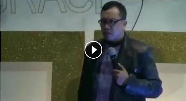 [VIDEO] Nyinyir Khotbah di Mesjid Jangan Politik, Ternyata Pendeta Digereja Kampanye Ahok, Ini Buktinya