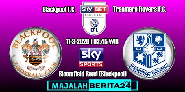 Prediksi Blackpool vs Tranmere Rovers