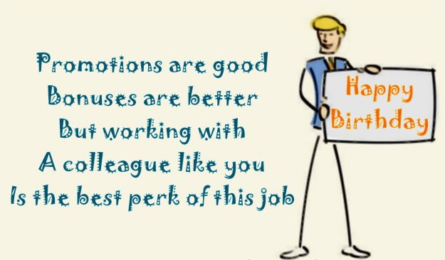 Happy Birthday Wishes for Work Colleagues