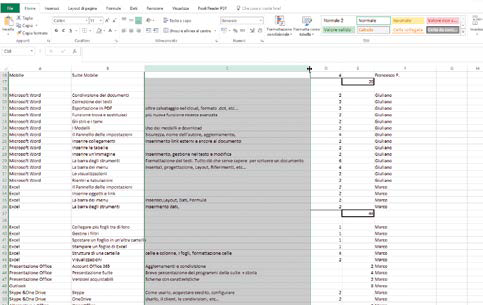 Come modificare la dimensione di celle in excel