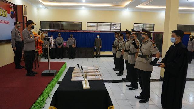 Kapolres Purbalingga Pimpin Sertijab Kasat Intelkam dan Tiga Kapolsek